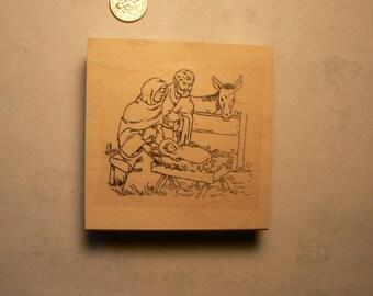 "Baby Jesus rubber stamp WM 2.5x2.2"" P20"