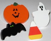 Pumpkin and Candy Corn Push Pins