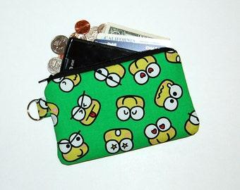 iPhone 6s, iPhone 6, iPhone 5, iPhone 4, Samsung Galaxy S5/S6 - Cell Phone Gadget Zipper Pouch/Coin Purse - Handcrafted from KEROPPI Fabric