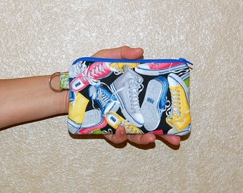 Sneakers - iPhone 6s, iPhone 6, iPhone 5, iPhone 4, Samsung Galaxy S5/S6 - Cell Phone Gadget Zipper Pouch / Coin Purse