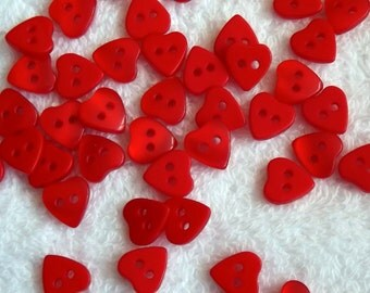 Red Heart buttons, 11mm x 9