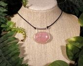Rose Quartz Acacia Necklace in Sterling