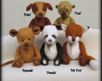 The Lost Toys Collection - Emma's Bears e PATTERN to make all FIVE critters