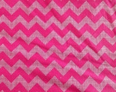 Custom Hot Pink Chevron Crib Sheet Nursery Bedding READY To SHIP *SALE