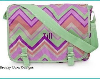 Personalized Messanger Bag, School Bookbag, Diaper Bag, Monogramed Backpack, Graduation Present, School Bag, Back To School,