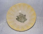 1950's Vintage Yellow and Green Rose Bowl