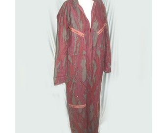 Vintage 1980s Purple and Grey Camouflage Jumpsuit
