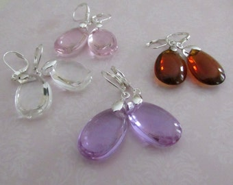 Bridesmaids Earrings Package of 4 Bridal Jewelry Bridal Accessories  Pear Shape Sparkly Glass Bead Earrings