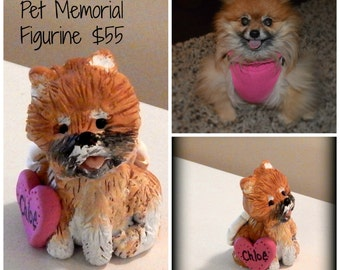 Pet memorial figurine