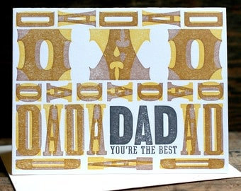 Dad...You're The Best letterpress card
