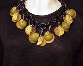 Bakelite Necklace Key Lime Pie, Jan Carlin Original