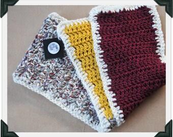 Handmade Annie - crocheted muliti color scarf