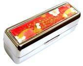 Lipstick Case w/ Mirror Plum Blossom Season