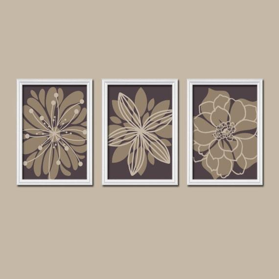 Wall Art Canvas Brown : Brown flower wall art canvas or prints bathroom artwork