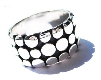 Chunky Silver Ring Sterling Oxidized Rings Fashion Jewelry Trends