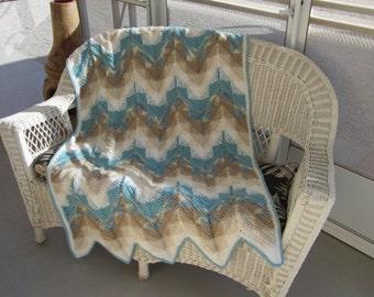 SPECIALLY PRICED ,,,,,   Darlene's Crochet Southwest Ripple Afghan Pattern