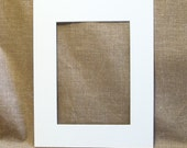 "Mat - White - to fit 8"" x 10"" frame - Cut for a 5x7 Print - Picture Frame Mat - Matte - Frame Matting"