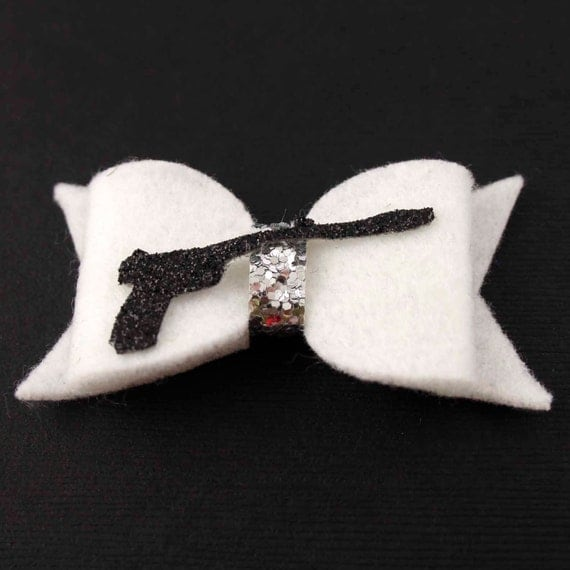 Princess Leia Hair Bow - Star Wars Felt Hair Bow