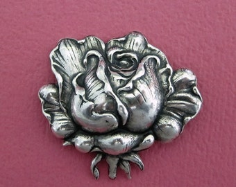 NEW Silver Rose Finding 3526