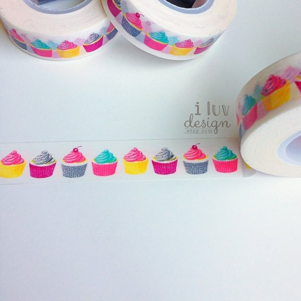 cupcakes washi tape decorative tape baby shower craft