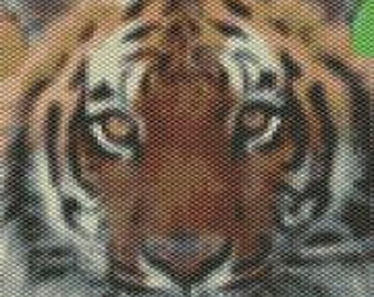 Bengal Tiger ,  Beaded Tapestry Pattern