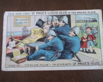 Antique Trade Card Le Page's Liquid Glue