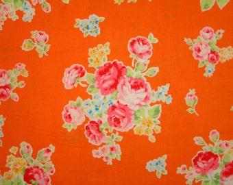 Shabby Orange Rose Floral Bundle 30968 Fabric by Lecien 2014 FLOWER SUGAR 1 Yard