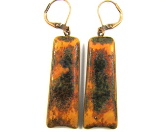 CLEARANCE 50% OFF Polymer Clay Earrings - Southwestern Landscapes Series - Petite Scorched Earth Earrings