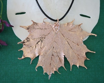 Rose Gold Leaf, Real Leaf, Sugar Maple, Maple Leaf, Pink Gold, RG2