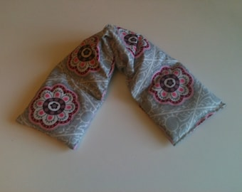 Heat Pack or Cold Therapy Wrap/ Neck Shoulder/ Flax Seed,Mint, Lavender - Springdale Blush
