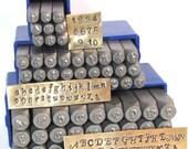 Swanky Script 3mm Metal Alphabet ,number stamp both upper , lower case