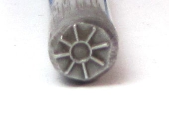 Navajo Sun Design Stamp 5x5mm for silver jewerly stamping of charms