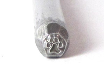 Mini Dog Paw Design Stamp for Silver Charm Making 3.5mm