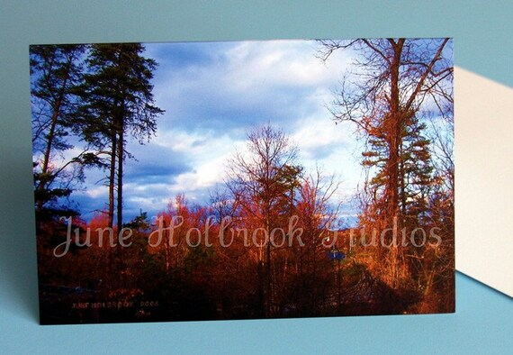 Photo Blank 4 x 6 Note Card with Envelope Fall MountainScape at Red House, Putham Co. West Virginia, MS -0001