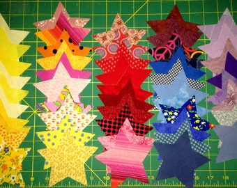 Die Cut fabric - Stars assorted