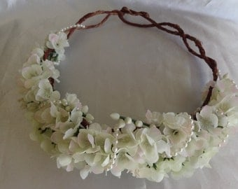 Flower Crown Bridal Hair Wedding Hair Headpiece Woodland Wedding Bohemian Floral Crown