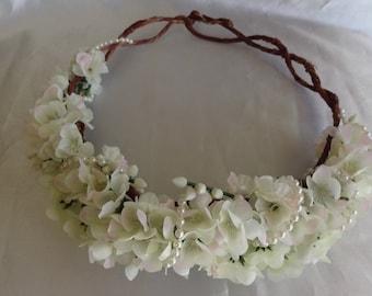 Flower Crown Bridal Hair Wedding Hair Headpiece Woodland Wedding Bohemian Floral Crown