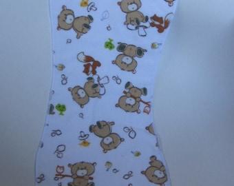 Burp Cloth, Bear and fox freinds