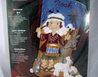 Bucilla Felt Christmas Stocking Kit - Drummer - Unopened - Rare