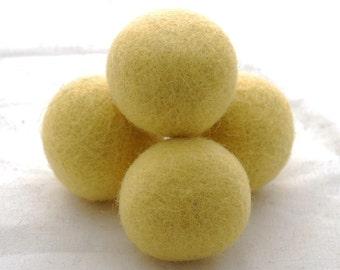 4cm Felt Balls - 8 Count - Yellow
