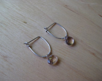 Insouciant Studios Little Gemmy Hoops in Ametrine