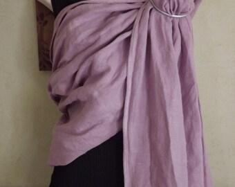 Lilac linen Ring Sling