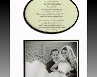 Wedding Gift for Parents Bride Groom Mother Father  Personalized Picture Wedding Print Name Date Photo