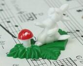 Rabbit and Mushroom Patch - Set of 4 - #203-3-7101