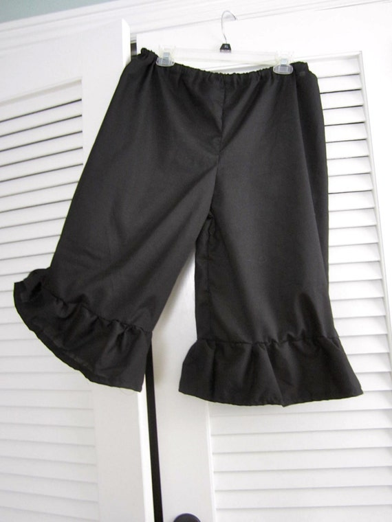 Amazing Dark Chocolate Women39s Velour Ruffle Capri Pants
