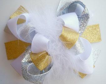 boutique FUNKY fun ANGEL hair bow clip