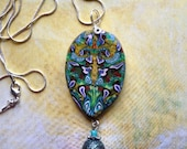 colorful Necklace / Pendant Polymer Clay