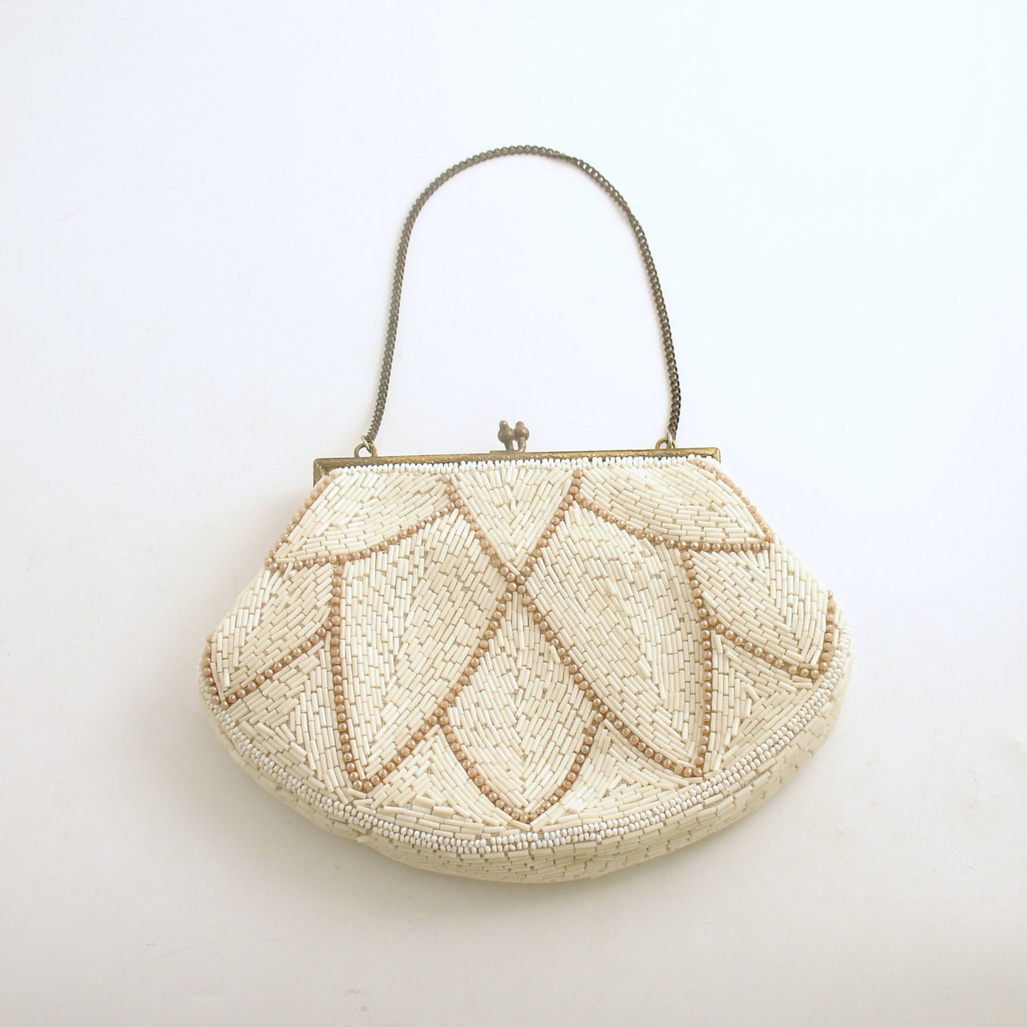 vintage beaded purse made in