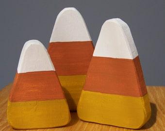 3 piece Wooden Candy Corn Set