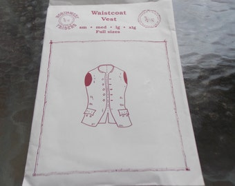 SALE   WAISTCOAT Vest Vintage Sewing Pattern Northwest Traders Small-XLarge